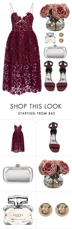 A fashion look from July 2017 featuring self portrait dress, burgundy shoes and leather man bags. Browse and shop related looks. High Fashion Outfits, Dress Up Outfits, Night Outfits, Look Fashion, Stylish Outfits, Autumn Fashion, Womens Fashion, Dresses, Pretty Outfits
