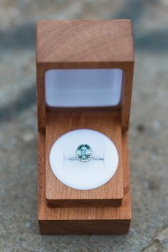 A colored ring with a halo? It doesn't get much better than that