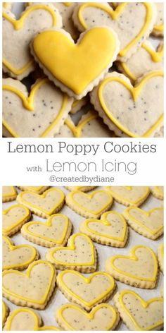 Lemon Cookies with Lemon Icing @createdbydiane