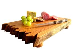 Bourbon & Wine Barrel Cutting Boards Cheese by HungarianWorkshop