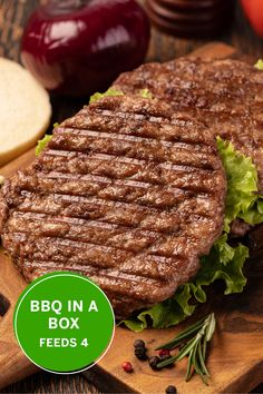 Bring a Tasty picnic to your backyard with this BBQ In a Box. Feeds 4.