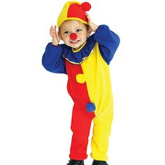 Christmas Party Dress Kids Cute Circus Clown Costume Gift for Child