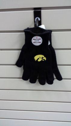 Adult Black Hawkeyes Winter Gloves http://www.centersports.net/