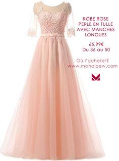 3bb1c064298d2 Magnifique robe de soirée pour demoiselle d honneur couleur rose poudré. Le  haut de