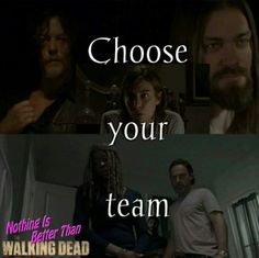 RICHONNE!! The Walking Dead #thewalkingdead #twd #nbttwd naw fuck that any team  with Daryl has me completely