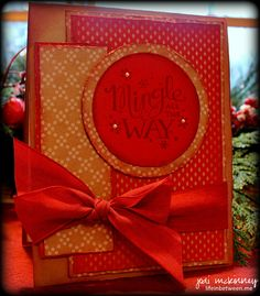 mingle all the way stampin up christmas card 2014