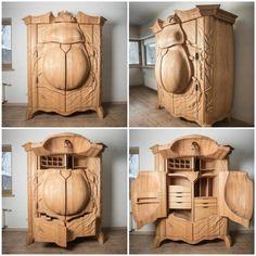 Holzschnitzerei - Einen Käfer im Schlafzimmer zu haben? Viele werden diese Vorstellung bestimmt eklig finden, oder? Nicht aber wenn es um so einen......