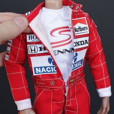 Outfit for custom 1/6 action figure of Ayrton Senn by striped-box