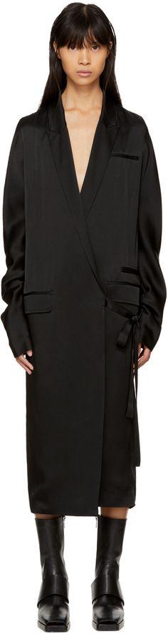 Haider Ackermann - Black Kuipur Wrap Dress