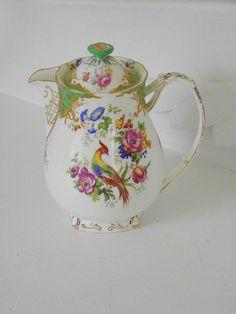 Vintage Paragon China Teapot Hot Water Pot by GrandAntiqueDecor, $58.00