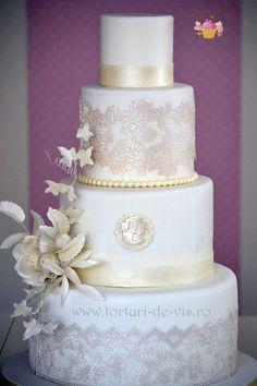 Tort nunta elegant