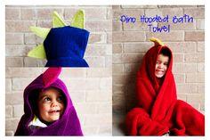 do it yourself dino hooded bath towel