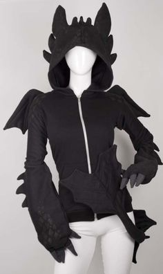 Toothless hoodie from How To Train Your Dragon OMG THIS IS SO DORKY BUT I LOVE TOOTHLESS.