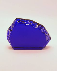 Cobalt Blue Glass Horizontal Iceberg Paperweight