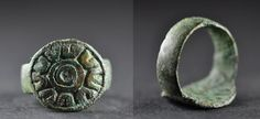 Amlash bronze ring similar 4, 1st millenium B.C. Amlash bronze ring similar, 1.9 cm diameter bezel, 1.9 cm diameter ring size, 6 gr weight. Private collection