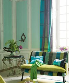 interesting shades of blue and green