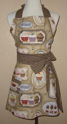 Retro-Vintage Inspired Cupcake Full Apron. $34.99, via Etsy.