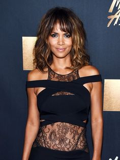 Loving Halle Berry's lit-from-within glow and bangs                                                                                                                                                                                 More