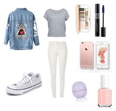"""""""Untitled #136"""" by skirmantesatkute ❤ liked on Polyvore featuring Chicnova Fashion, River Island, Converse, Topshop, Jane Iredale, Essie and Christian Dior"""