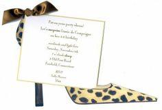 Shoe Party Invitation Ideas | home invitations leopard shoe invitation