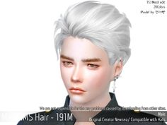 Emma's Simposium: TS4 Request #49 - MaySims Hair 191M - AU Requested...