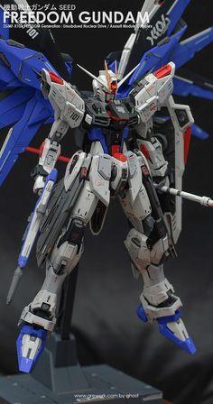 Freedom Gundam - Customized Build Modeled by ghost Arte Gundam, Gundam Wing, Gundam Art, Girls Anime, Anime Couples Manga, Cute Anime Couples, Manga Girl, Transformers, Gundam Toys