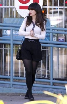 Style Crush - Zooey Deschanel... Lice this concept, but I would choose a different skirt
