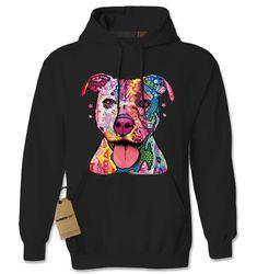 957d50ef Hoodie Rainbow Pit Bull Hooded Jacket Sweatshirt Psychedelic Dog Hoodie  #1214 by Expression Tees Trending