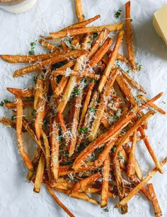 herb salted garlic parmesan french fries
