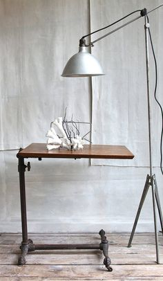 antique drafting table.