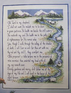 Psalm Bible Verse Counted Cross Stitch Kit 40661 Bucilla x 1992 NIP in Crafts, Needlecrafts & Yarn, Cross Stitch & Hardanger Cross Stitch Samplers, Counted Cross Stitch Patterns, Cross Stitch Charts, Cross Stitch Designs, Cross Stitching, Cross Stitch Embroidery, Cross Stitch Quotes, Religious Cross, Crochet Cross