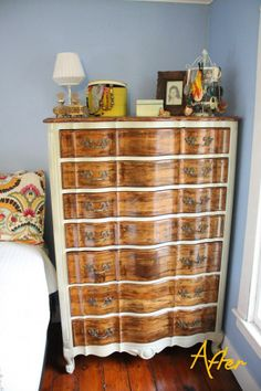 Check out a dresser makeover that stays true to the piece's classic look.