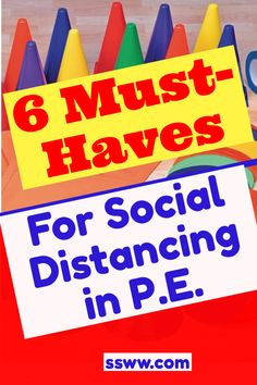 Are you looking for some ideas for physical education lessons while maintaining social distancing? I've got 6 must-have pieces of equipment that will help you keep kids six feet apart in large spaces according to the latest health guidelines. These ideas are meant to get you thinking and give you some great ideas for elementary and pre-K physed activities for the coming school year. #physed #physicaleducation #socialdistancing #6feetapart #physedsuperhero Physical Education Activities, Pe Activities, Health And Physical Education, Education And Literacy, Pe Games Elementary, Pre K Lesson Plans, Pe Lessons, Pe Teachers, Pe Ideas