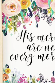 bible verse print christian wall art His mercies are new