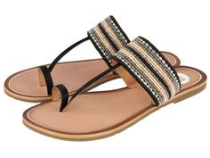 Agreable / Sandalias negras con pedrería. Corte en sintético y forro y plantilla en piel. Unas sandalias planas de estilo étnico para tus looks más hippie chic.