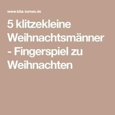 5 winzige Weihnachtsmänner - Weihnachtsfingerspiel hobby for guys for men ideas for men projects for women lobby decor lobby diy lobby farmhouse lobby store products lobby wall art that make money to try hobby room