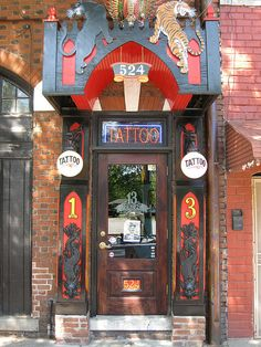 Tattoo parlor, East Atlanta Village, Atlanta, Georgia, storefront