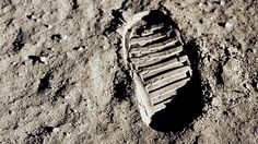 Footprints and tire tracks left behind by astronauts on the moon will stay there forever as there is no wind to blow them away.  Credit: NASA