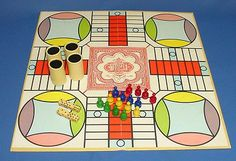 Parcheesi, also called Pachisi is a backgammon game of India, dates back to 4 AD. this is 1964 Gold Seal Edition by Selchow & Righter Family Game Night, Family Games, Game Boards, Board Games, Vintage Games, Vintage Toys, How Old Am I, Backgammon Game