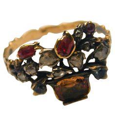 Scarce Antique Georgian Giardinetti Ring | 1stdibs.com