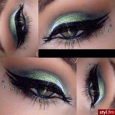 Gorgeous Makeup: Tips and Tricks With Eye Makeup and Eyeshadow – Makeup Design Ideas Glam Makeup, Party Makeup, Makeup Tips, Hair Makeup, Green Eyeshadow, Eyeshadow Ideas, Eyebrow Makeup, Eyeliner, Gorgeous Makeup