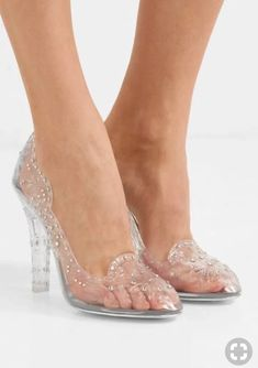 Who did Design the Very First Clear Transparent Shoes? ~ Alley Girl - The Fashion Technology Blog based in New York Pretty Shoes, Cute Shoes, Me Too Shoes, Transparent Shoes, Shoe Boots, Shoes Sandals, Wedding Boots, Cinderella Shoes, Prom Heels