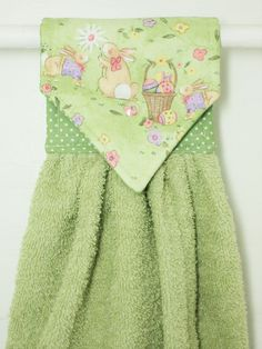 Easter Hanging Hand Towel Easter Kitchen by MarlenesSewingRoom