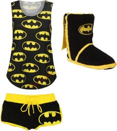 """Batman PJ's"" by directioner-now-until-eternity ❤ liked on Polyvore"