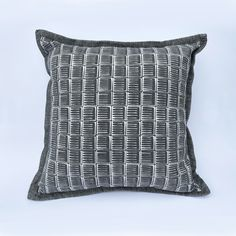 Dark Grey Cushion: Handprinted with original design 'Inky'