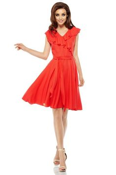 92db49a26c lemoniade Sukienka kopertowa na lato czerwony PARIS - Merg.pl Vintage