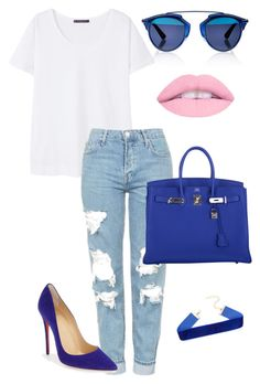 """""""Untitled #407"""" by outfits-by-jahan on Polyvore featuring Christian Dior, MANGO, Topshop, Hermès and Christian Louboutin"""