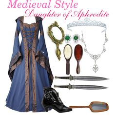 Medieval Style- Daughter Of Aphrodite Narnia, Mason Pearson, Allura, Medieval Fashion, Aphrodite, Ibiza, Tiffany, Fashion Looks, Daughter