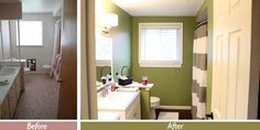 1960s bathroom renovation before and after   Bathroom Remodel for Under $1,500   This Nest Is Blessed