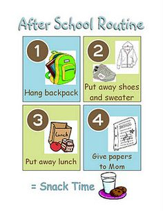 after school routine printable - i soooo need this for my kids!